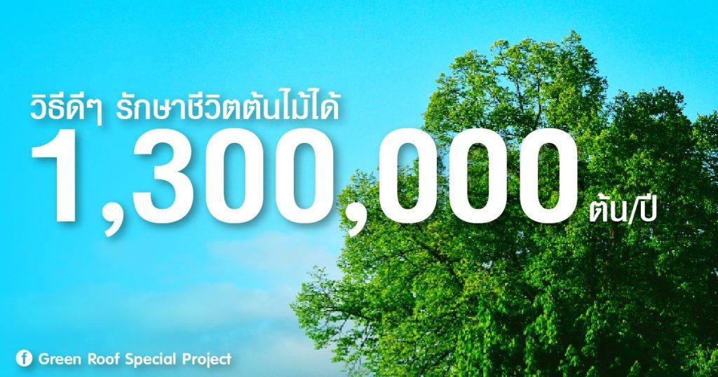 วิธีดีๆ รักษาชีวิตต้นไม้ได้ 1,300,000 ต้น/ปี !!