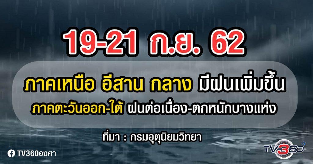 ปัจจัย ควมคุมอากาศไทย ทำ..อากาศแปรปรวน ฝนต่อเนื่องถึงสัปดาห์หน้า