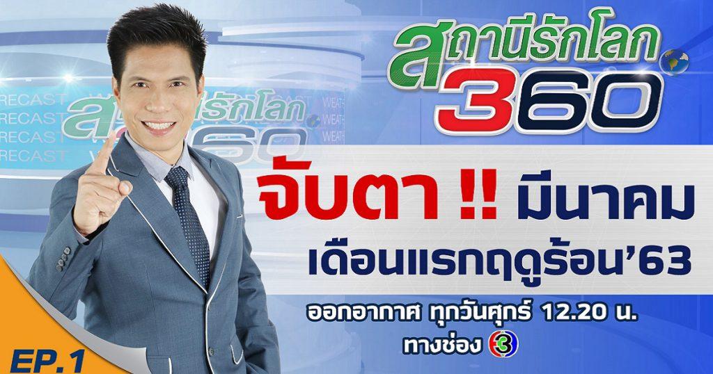 จับตา !! มีนาคม เดือนแรกฤดูร้อน 63 | สถานีรักโลก360องศา | EP.1